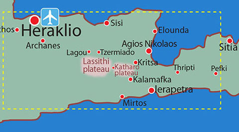 Map location details: FLOWER TOUR EAST CRETE